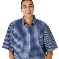 100% Cotton Yarn Dyed Double Check Shirt