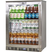 Rhino Stainless Steel 1 Door Triple Glazed Glass Bar Fridge |SG1L-SS