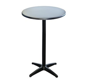 Astoria Black Bar Table Round - Indoor/Outdoor