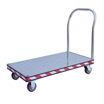 Aluminium Platform Trolley- 550kg Capacity- Pneumatic Wheels