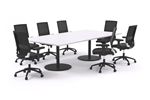8 Person Large Boardroom Table Black Legs