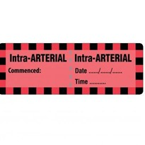 Injectable Medicine Identification Labels  Intra-ARTERIAL