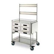 Resuscitation Trolleys | 5 Drawers with  Maxi-Bin Rails