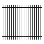 Security Fencing | Hercules Steel Panel 2400 x 2100mm – Black