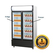 Thermaster Upright Glass Door Combination Fridge & Freezer – LG-1000GE