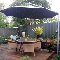 Square and Octagonal Side Post Umbrellas