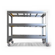 3 Tier Bariatric Mobile Mortuary Rack