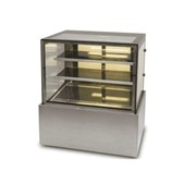Heated Food Displays | NDHV3740 Square Glass 3 Tier - 1200mm