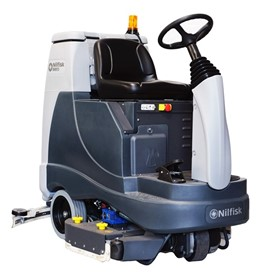 Scrubber | BR855 Battery Powered Ride-On Scrubber Dryer