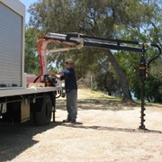 Truck Mounted Cranes | Post Hole Borer