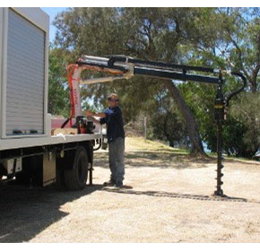 Truck Mounted Cranes | Kevrek Post Hole Borer