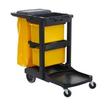 Plastic Janitor Cleaning Cart