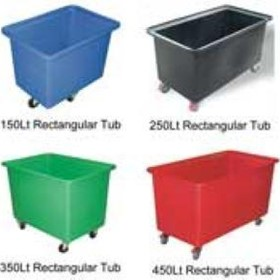 Rectangular Tub Moist Linen Trolleys