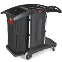 Compact Folding Housekeeping Cart | Rubbermaid 9T76