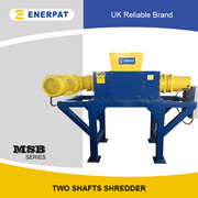 UK Shredding System | Scrap Plastic Drum/Barrel Double Shaft Shredder