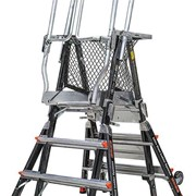 Adjustable Fibreglass Platform Ladders | LITTLE GIANT Safety Cage