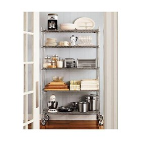 Chrome Wire Shelving System