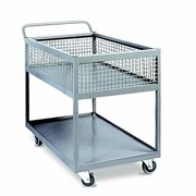 2-Tier Industrial Powder Coated Trolley with Half Basket 340 kg