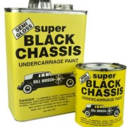 Semi-Gloss Super Black Chassis Undercarriage Paint Bill Hirsch