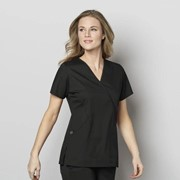 102 WonderWORK Women's Mock Wrap Nurses Medical Scrub Top
