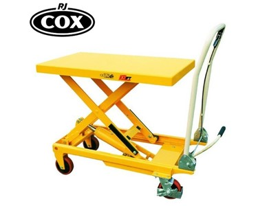 Single Scissor Lift with capacities of 150, 300, 500 & 700kgs