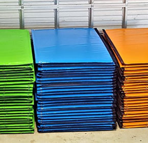 Colourful Hushtec Sound Barriers