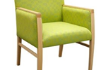 Armchair with Timber Arms | Rutford