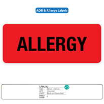 Medical Identification Labels - Allergy