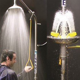 Emergency Stainless Steel Safety Showers