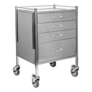 Juvo Stainless Steel Anesthesia Trolleys