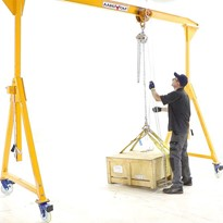 Portable Gantry Crane, all aluminium construction.