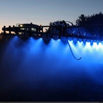 Agricultural Boom Spray Illumination LED Blue Light. Night Spray Work