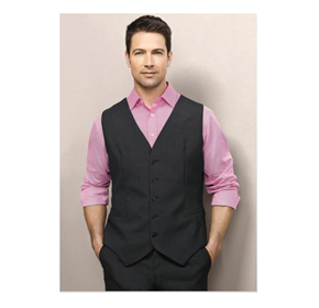Biz Corporates Mens Peaked Vest with Knitted Back
