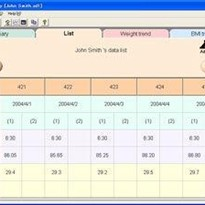 Medical Software | Weight Diary for UC-322/321/321P