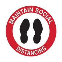 Floor & Carpet Marking Sign - Maintain Social Distancing | 879186