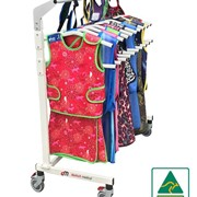 Easy to Use Mobile Lead Apron Rack to Hold 10 Lead Aprons