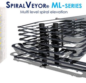 Spiral Conveyors | Multi-Level | AmbaFlex SpiralVeyor® SV-ML