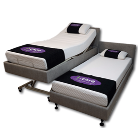 Pair King Size Single Hi Lo Adjustable Electric Bed | I-Care 333