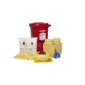 240 Litre Chemical Wheelie Bin Spill Kit