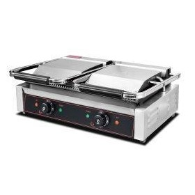 Electric Panini Double Flat Base Contact Grill