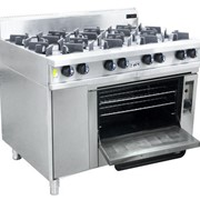 8 Burner Cooktop w/ Gas Oven (on right hand side)