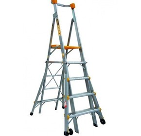 Aluminium Adjustable Platform Ladder 1.5m - 2.4m | Gorilla Series