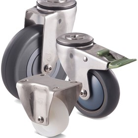 Fallshaw M Series Stainless castors - 304 stainless steel. Aus-made