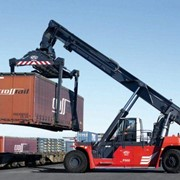 CVS Ferrari Laden Container Reach Stackers