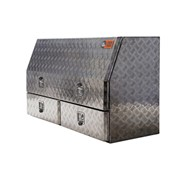 Aluminium Tool Boxes Full Door – 2 Drawers
