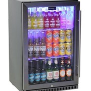 Schmick Black Stainless Steel Bar Fridge SK118L-BS