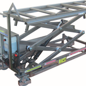 Mortuary Lifter Trolley for use with Bariatric Mortuary Cabinets