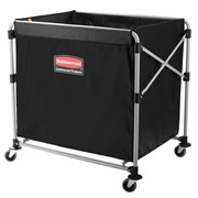 Collapsing X-Cart Laundry Basket Truck | Rubbermaid