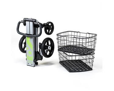 ComeQuick-release accessory adapters allow for easy attachment and releases standard with two baskets