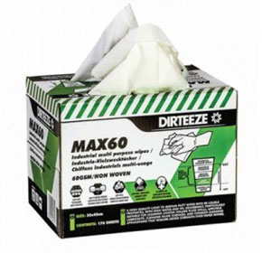 Standard Duty Dry Wipes | Dirteeze MAX60